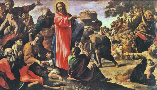 jesus feeding The-Hungry-Crowd