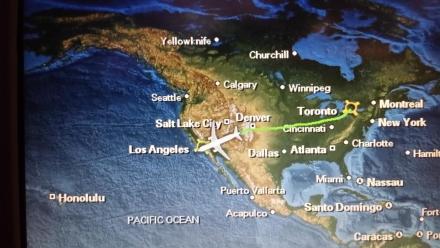 Map of Denver flight path - Fying over Denver