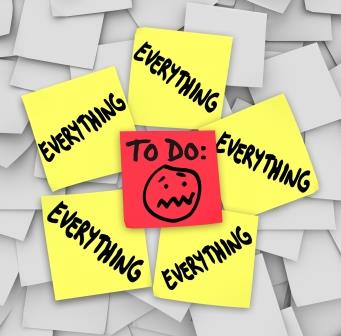 Sticky Notes To Do List Everything Overwhelming Tasks